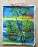 "Bild ""tropische Idylle"" 50 x 70 cm / Acryl"