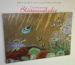 """Bild """"Unter Wasser"""" 140 x 100 cm / Acryl mit Perlmutt- und Glitzerfarben-Einsatz"""