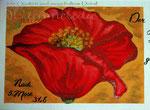 "Bild ""Mohn"" Details, 50 x40 cm / Acryl"