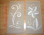 """""""Tapetenbilder"""" mit Perlenverzierung 50 x 110 cm / Acryl"""