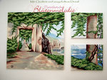 "Reliefbild Triptychon ""Griechenland"" komplett 120 x 200 cm / Acryl"