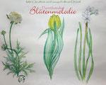 """Zeichnung """"Frühlingsblumen"""" 30 x 40 cm/Buntstift"""