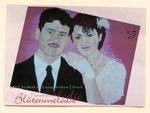 """Bild """"Brautpaar"""" 50 x 40 cm / Acryl"""