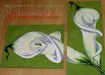 "Bild ""Calla"" Details, 70 x50 cm / 150 x 30 cm / Acryl"