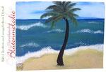 """Bild """"einsame Palme"""" 30 x 40 cm / Acryl"""