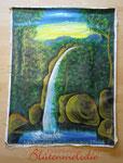 """Bild """"Tropenwasserfall"""" 160 x 120 cm / Acryl"""