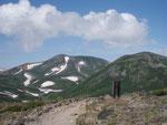 北鎮岳・白鳥の雪渓