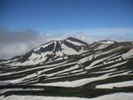 白雲岳山頂からの後旭岳(通称ゼブラ)