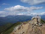 石狩岳山頂からの大雪