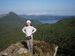リスケ山からの摩周岳と摩周湖