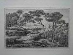 Charmier 4, Muletier dans le paysage provençal, 1845.