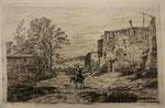 Charmier 14, Femme sur un mulet traversant un gué devant un hameau, s.d. (BM Lyon Res Est 28211).
