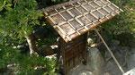 お蔵(母屋も)は幕末創建だが、明治に作られた庭門。こちらも登録有形文化財に登録して頂いている。杉の皮で葺いた屋根は数十年が寿命らしく、去年痛みが急に進みはじめたので修復した。