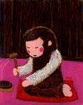 「身代りの手白猿」滋賀坂本・西教寺「寺伝」