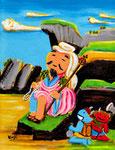 「役行者と前鬼後鬼」奈良・葛城山「日本霊異記」他