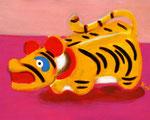 「少彦名神社、神農さんの虎」中国に古くから伝わる病除けの「神農神」のお守り。