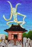 「四天王寺さんの元三大師」四天王寺さんの西側、乾門から入ると元三大師堂がある。 現在は合格祈願で有名だが、おみくじの創始者でもある。
