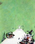 危険な食卓 Ⅲ / Dangerous Dinner Ⅲ , 2009, watercolor, oil, alkyd, pencil on canvas, 100×80.3 cm (39.4×31.6 in)