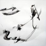 飛翔 /  Flying, 2010  Ink, pencil, Colored pencil on paper, 56×56 cm(22×22 in)