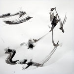 飛翔 /  Flying, 2010  Ink, pencil, Colored pencil on paper, 56×56 cm(22×22 in)