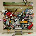 不在者は主張する / The Absentee Insists , 2009, watercolor, oil, alkyd on canvas, 145.5×145.5 cm (57.3×57.3 in), private collection, Germa,