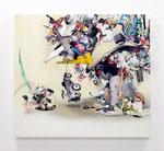 反乱するイメージ / Revolting , 2013 , silk screen , ink , oil , alkyd on cotton canvas, 130.2×144.6×6.2 cm (51.3×56.9×2.4 in), private collection, Germany