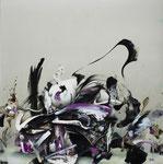 無題 / Untitled , 2010, oil, alkyd on canvas, 162×162 cm (63.8×63.8 in), private collection, Japan