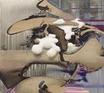 浮 / Float , 2012 , ink, oil, alkyd on canvas, 90.1×100.1×5.9 cm (35.5×39.4×2.3 in),  available