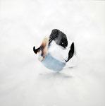 接 / Joint 2010, collage, watercolor, pencil, Colored pencil on paper, 45.4×45.4 cm(17.9×17.9 in), private collection, Japan