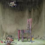 主張する不在者  / The Absentee Who Insists, 2010, watercolor, oil, alkyd on canvas, 162×162 cm (63.8×63.8 in)