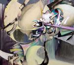呼応 Ⅱ / Correlation Ⅱ , 2012 , ink, oil, alkyd on cotton canvas, 168.7×194.1×6.1 cm (66.4×76.4×2.4 in),  available