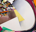 円のリズム / Rhythm of Circle , 2012/2013 , ink, oil, alkyd on cotton, 90×100.1×6 cm (35.4×39.4×2.4 in),  available