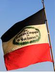 Die neu geweihte Flagge