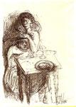 50. Ohne Titel, 1965, 19x12 cm, Kugelschreiber
