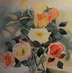 Rosenstrauss     Bildgrösse    65  x 55  cm