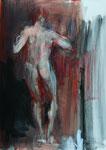 """""""Schwankender"""", 2018, Acryl auf  Hartfaserplatte, 80 X 55 cm, Henning Bertram, WVNr. 1747 (Datei DSC_1700.jpg)"""