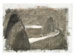 """""""Landschaft mit Weg"""", 2002, Öl auf  Leinwand, 26,5 X 37 cm, Henning Bertram, WVNr. 626 (Datei img0820.jpg)"""
