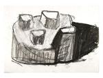"""""""o.T."""", 2002, Zeichenkohle, Tusche auf  Papier, 70 X 100 cm, Henning Bertram, WVNr. 476 (Datei img0607.jpg)"""
