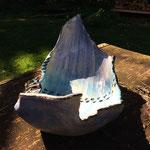 Steinzeug, Unterglasurfarben, glasiert  29 x 18 cm  H: 14 cm