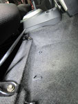 トヨタ イスト 室内前席周辺の嘔吐物汚れおよび使用汚れの車内クリーニング(清掃・洗浄・シミ抜き)後の写真14