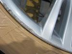 BMW350M純正ホイール左フロントのガリ傷・すり傷リペア(修理・修復)前写真①