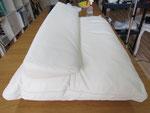 レザー(革張り)ソファ汚れ・黄ばみ・シミ・傷・等の写真例28、クリーニンング・保湿・劣化補修前