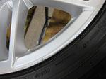 アウディ・A4・Sライン の純正18インチホイール4本の1本目ガリ傷・擦りキズ・欠けのリペア(修理)前アップ写真②