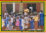 Distribution of books and pens (Mr. Seidu)