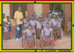 Mr. Seidu with schoolgirl beneficiaries