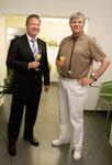 Kuppenheims Bürgermeister Karsten Mussler mit Prof. H.-D. Klimm