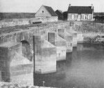 Die Schleuse von La Barquette am Unterlauf der Douve