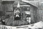 Rückansicht 24 cm Geschütz, Batterie Hamburg