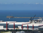 Blick auf den Hafen von Cherbourg vom Musée de la Libération I