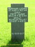Grab von Generalleutnant Wilhelm Falley, Kommandeur 91. Infanterie-Division